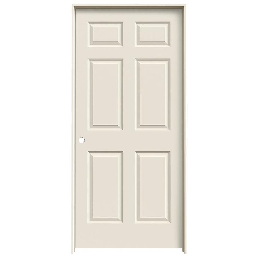 Shop Jeld Wen Prehung Solid Core 6 Panel Interior Door Common 36 In X 80 In Actual