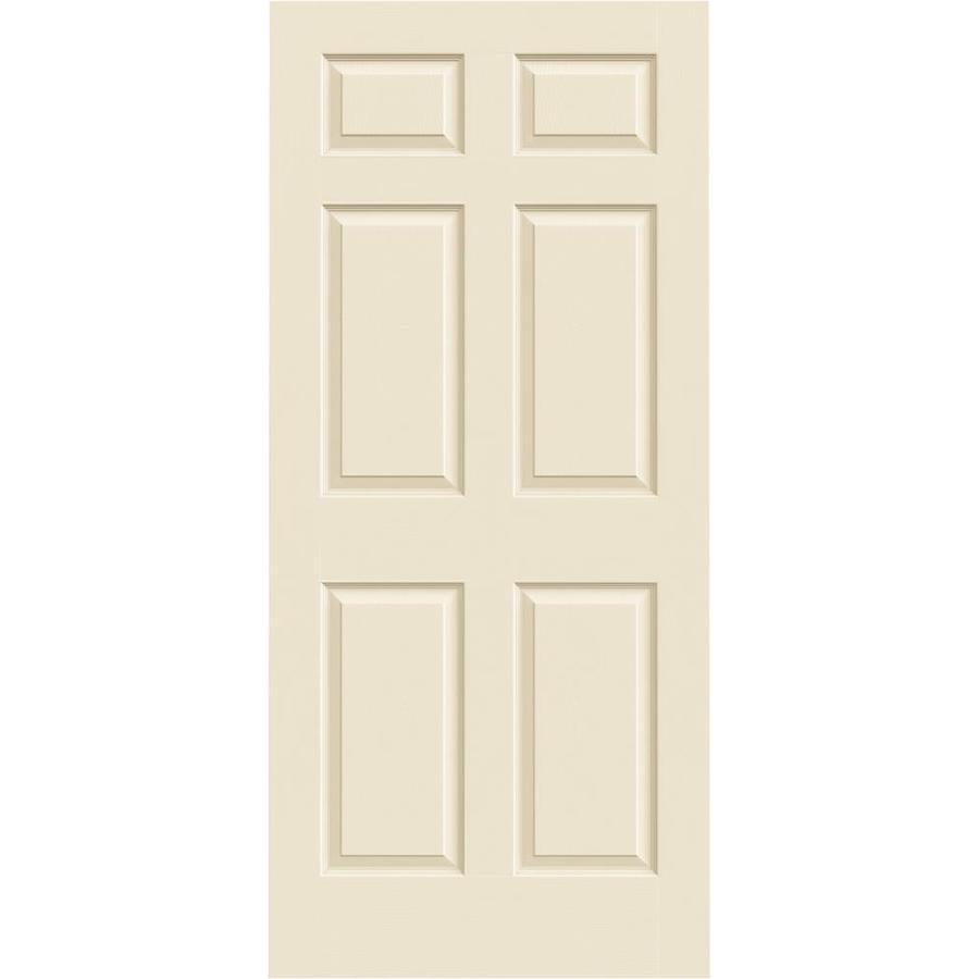 JELD-WEN Cream-N-Sugar Hollow Core 6-Panel Slab Interior Door (Common: 36-in x 80-in; Actual: 36-in x 80-in)