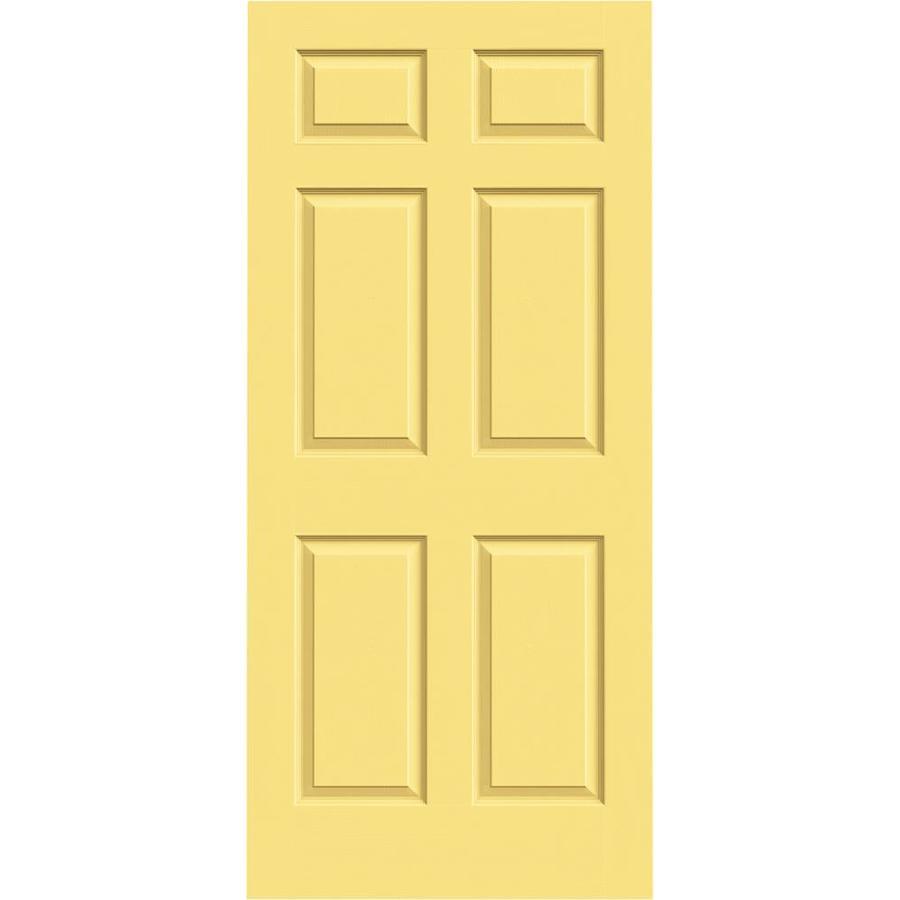 JELD-WEN Marigold Hollow Core 6-Panel Slab Interior Door (Common: 36-in x 80-in; Actual: 36-in x 80-in)