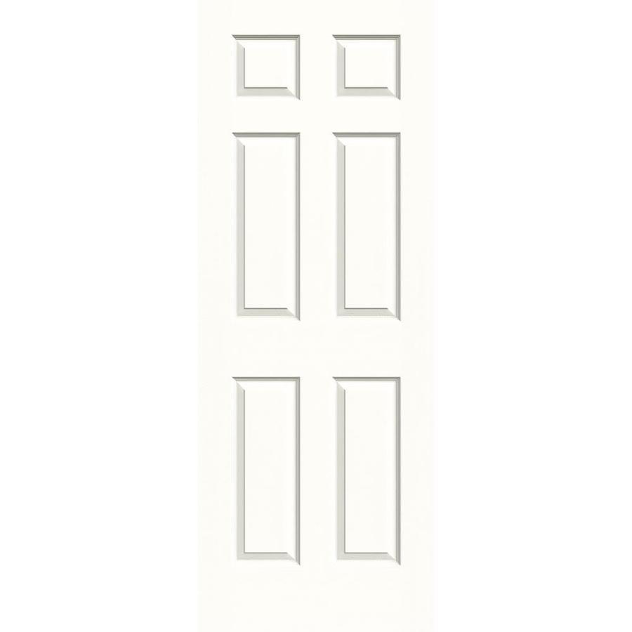 JELD-WEN Snow Storm Solid Core 6-Panel Slab Interior Door (Common: 30-in x 80-in; Actual: 30-in x 80-in)