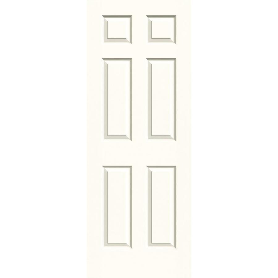 JELD-WEN Moonglow Solid Core 6-Panel Slab Interior Door (Common: 24-in x 80-in; Actual: 24-in x 80-in)