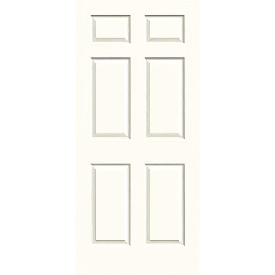 JELD-WEN Moonglow Solid Core 6-Panel Slab Interior Door (Common: 36-in x 80-in; Actual: 36-in x 80-in)