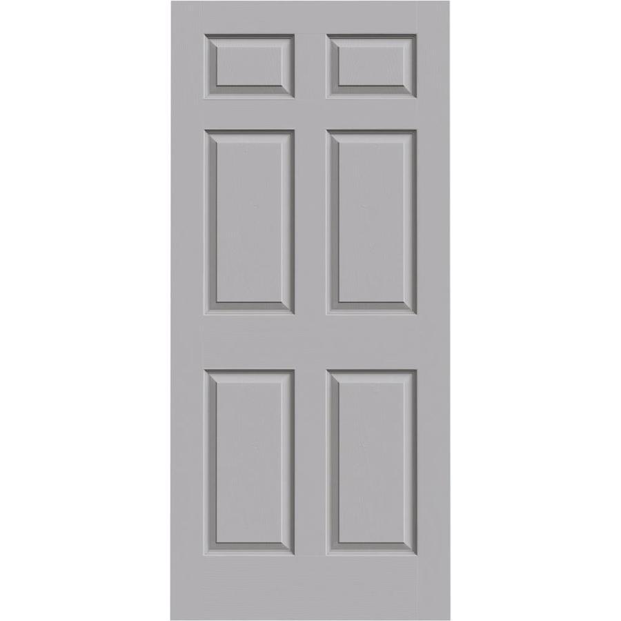 JELD-WEN Driftwood Solid Core 6-Panel Slab Interior Door (Common: 36-in x 80-in; Actual: 36-in x 80-in)