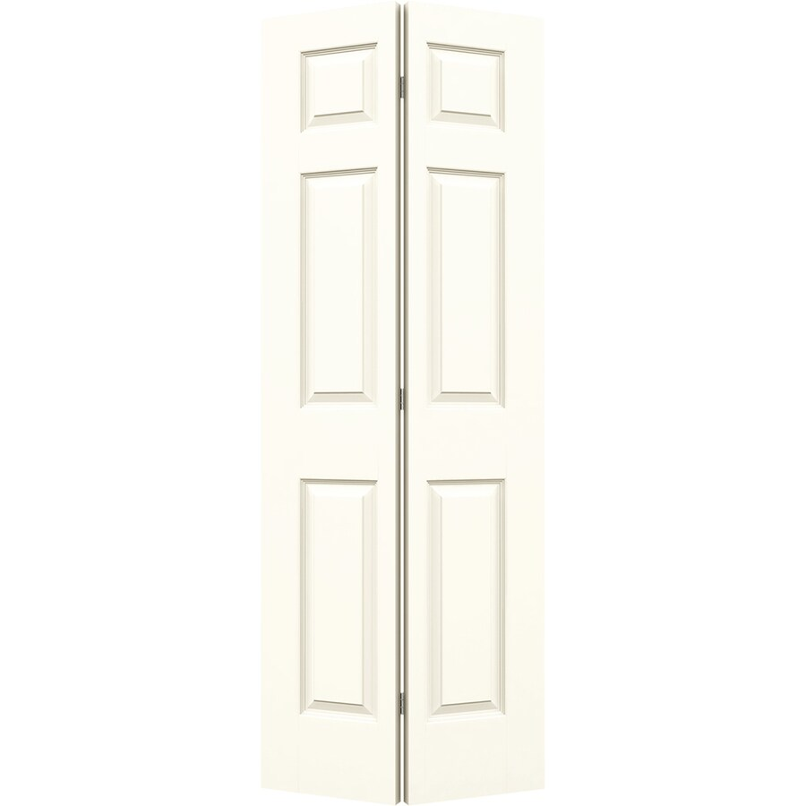 JELD-WEN White Hollow Core 6-Panel Bi-Fold Closet Interior Door (Common: 36-in x 80-in; Actual: 35.5-in x 79-in)