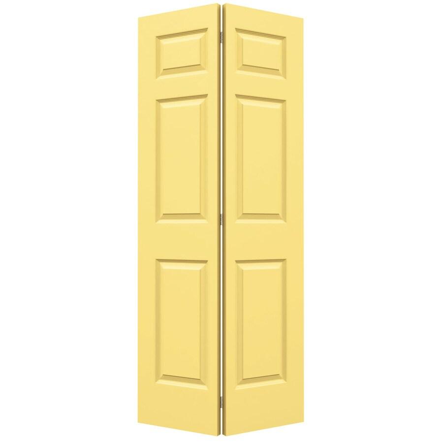 JELD-WEN Marigold Hollow Core 6-Panel Bi-Fold Closet Interior Door (Common: 36-in x 80-in; Actual: 35.5-in x 79-in)