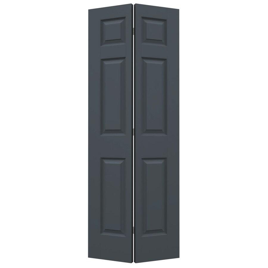 JELD-WEN Slate Hollow Core 6-Panel Bi-Fold Closet Interior Door (Common: 24-in x 80-in; Actual: 23.5-in x 79-in)