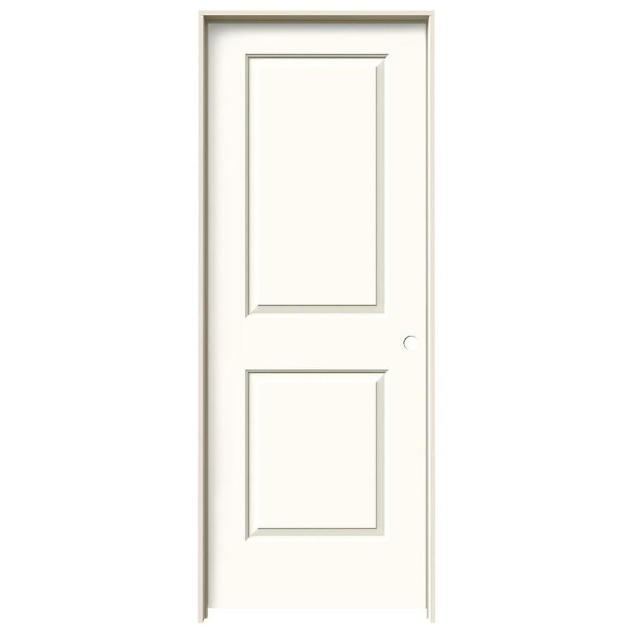 JELD-WEN White Prehung Solid Core 2-Panel Square Interior Door (Common: 30-in x 80-in; Actual: 31.562-in x 81.688-in)