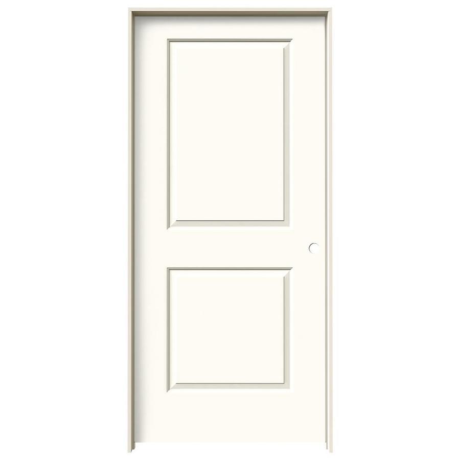 JELD-WEN White Prehung Solid Core 2-Panel Square Interior Door (Common: 36-in x 80-in; Actual: 37.562-in x 81.688-in)