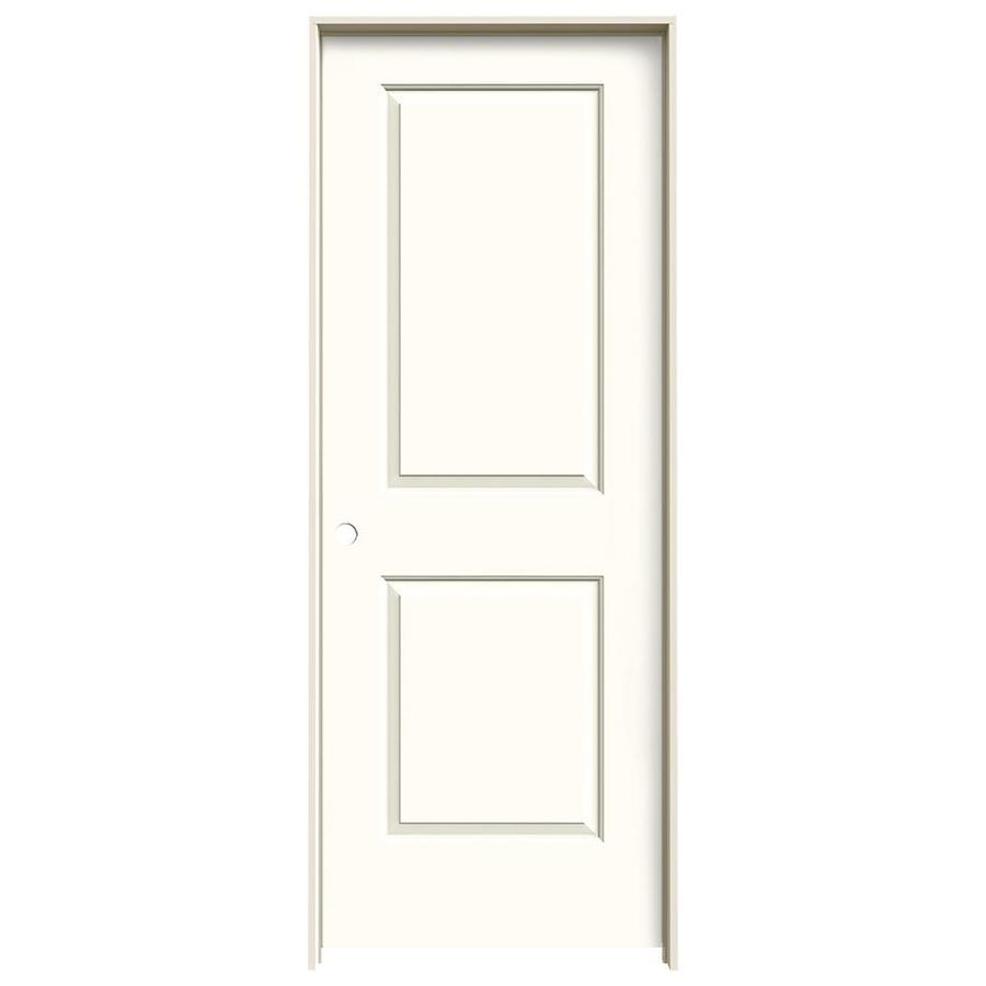 JELD-WEN Moonglow Prehung Solid Core 2-Panel Square Interior Door (Common: 32-in x 80-in; Actual: 33.562-in x 81.688-in)