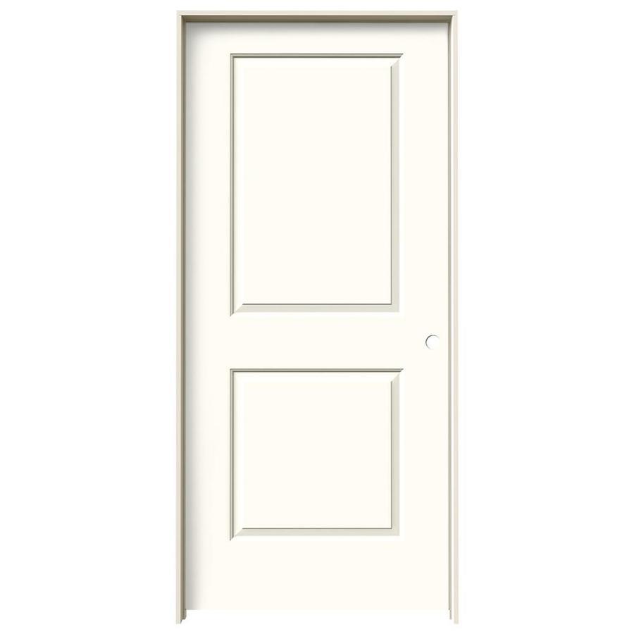 JELD-WEN Moonglow Prehung Solid Core 2-Panel Square Interior Door (Common: 36-in x 80-in; Actual: 37.562-in x 81.688-in)