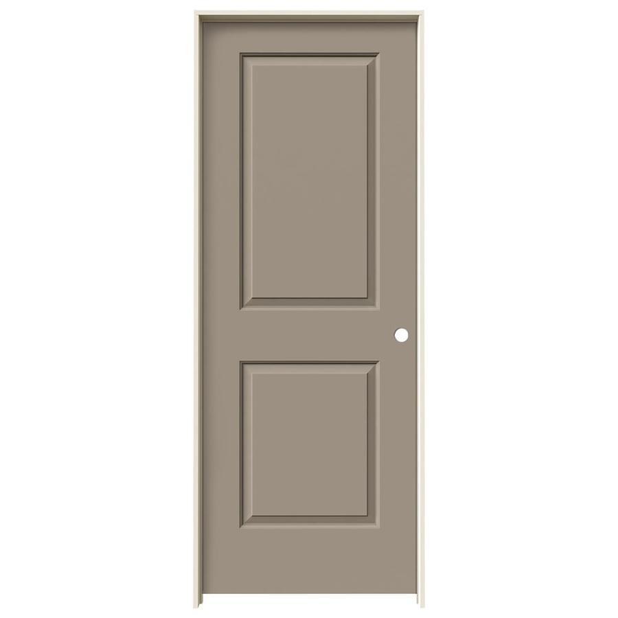 JELD-WEN Sand Piper Prehung Solid Core 2-Panel Square Interior Door (Common: 30-in x 80-in; Actual: 31.562-in x 81.688-in)