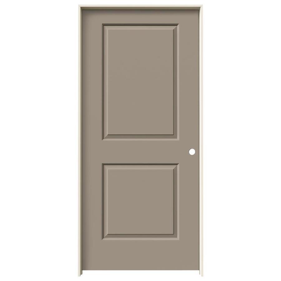 JELD-WEN Sand Piper Prehung Solid Core 2-Panel Square Interior Door (Common: 36-in x 80-in; Actual: 37.562-in x 81.688-in)