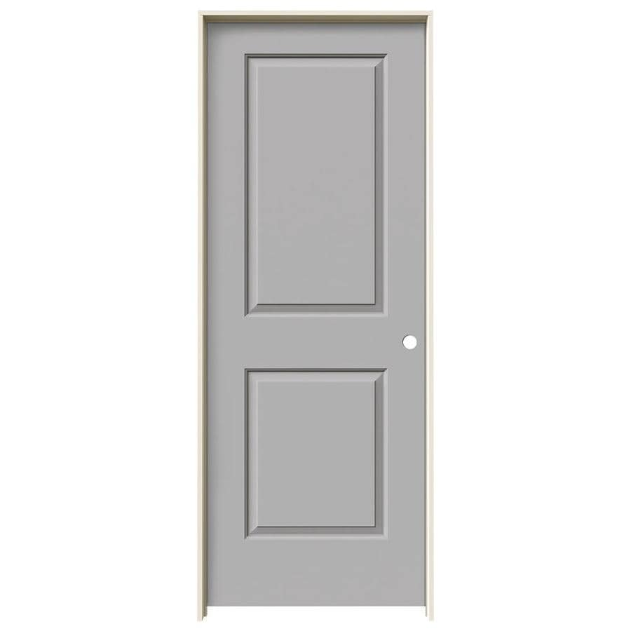 JELD-WEN Driftwood Prehung Solid Core 2-Panel Square Interior Door (Common: 28-in x 80-in; Actual: 29.562-in x 81.688-in)