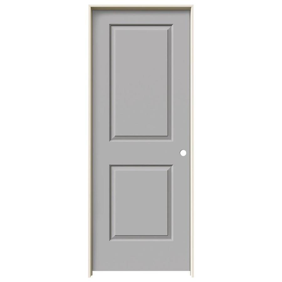 JELD-WEN Driftwood Prehung Solid Core 2-Panel Square Interior Door (Common: 30-in x 80-in; Actual: 31.562-in x 81.688-in)