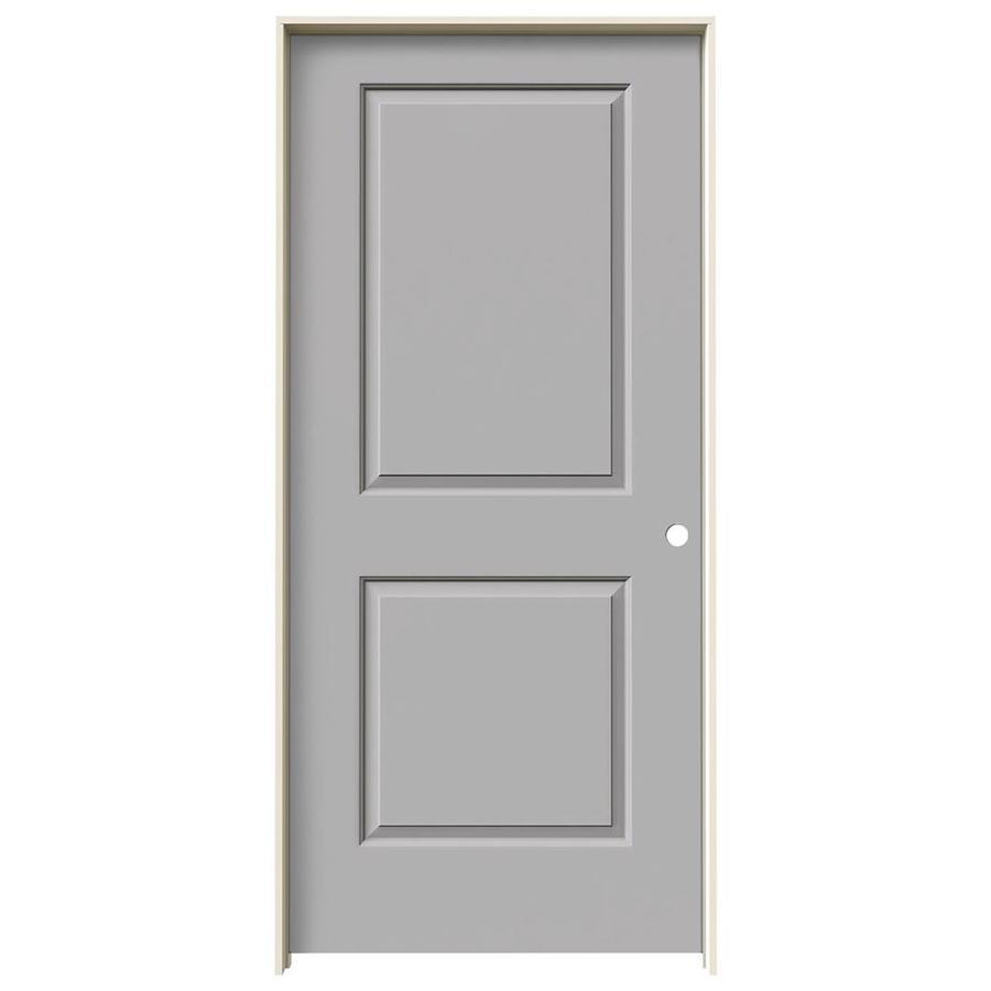 JELD-WEN Driftwood Prehung Solid Core 2-Panel Square Interior Door (Common: 36-in x 80-in; Actual: 37.562-in x 81.688-in)