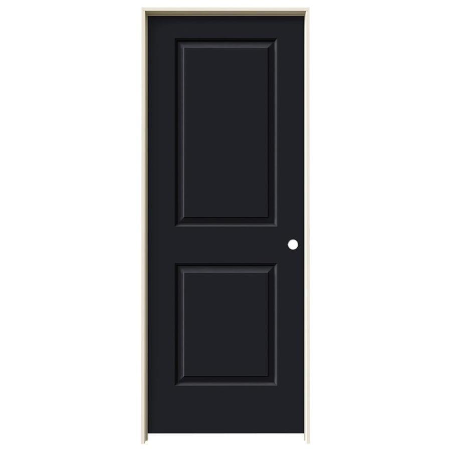 JELD-WEN Midnight Prehung Solid Core 2-Panel Square Interior Door (Common: 24-in x 80-in; Actual: 25.562-in x 81.688-in)