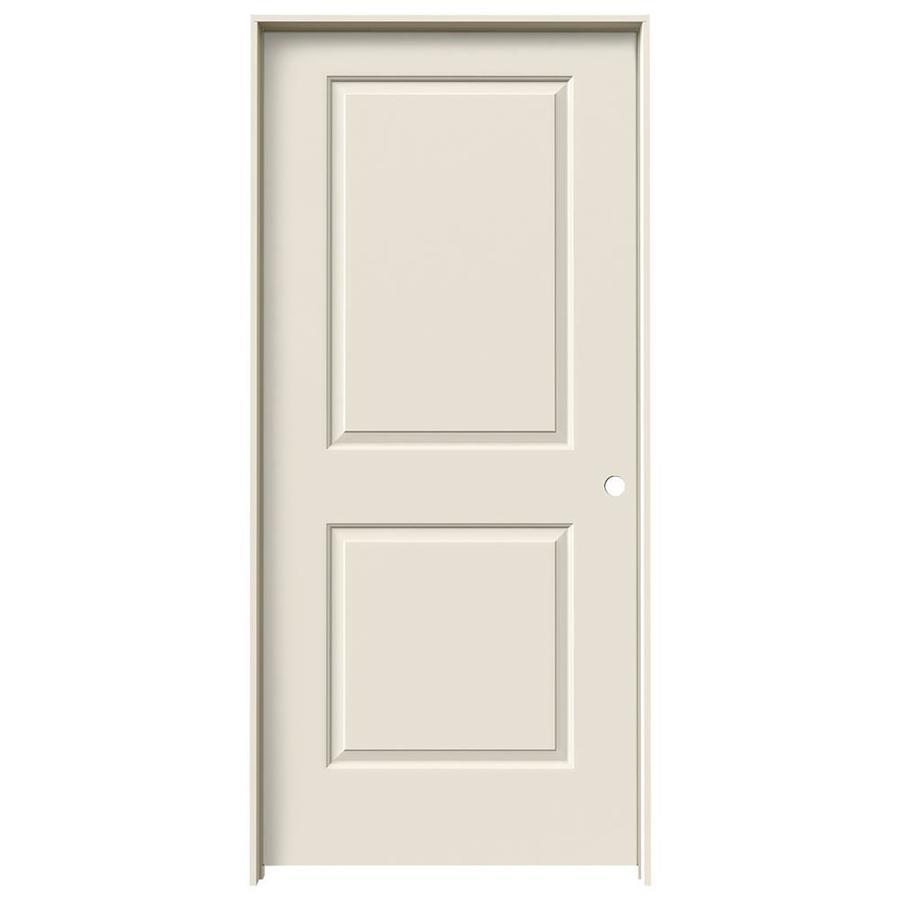 JELD-WEN Prehung Solid Core 2-Panel Square Interior Door (Common: 36-in x 80-in; Actual: 37.562-in x 81.688-in)