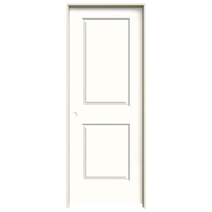 JELD-WEN Snow Storm Prehung Hollow Core 2-Panel Square Interior Door (Common: 30-in x 80-in; Actual: 31.562-in x 81.688-in)