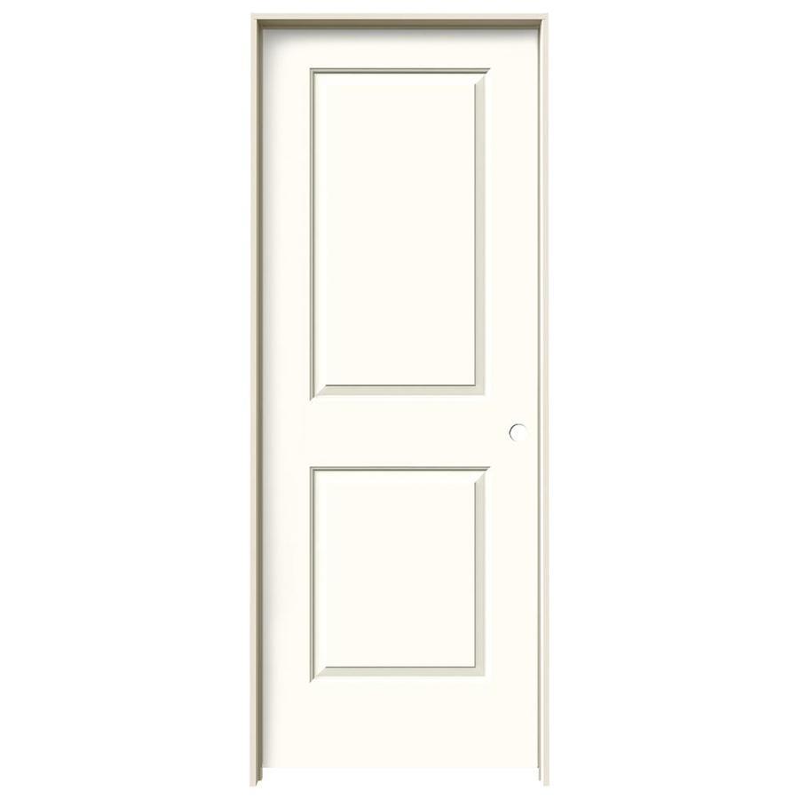 JELD-WEN Moonglow Prehung Hollow Core 2-Panel Square Interior Door (Common: 32-in x 80-in; Actual: 33.562-in x 81.688-in)