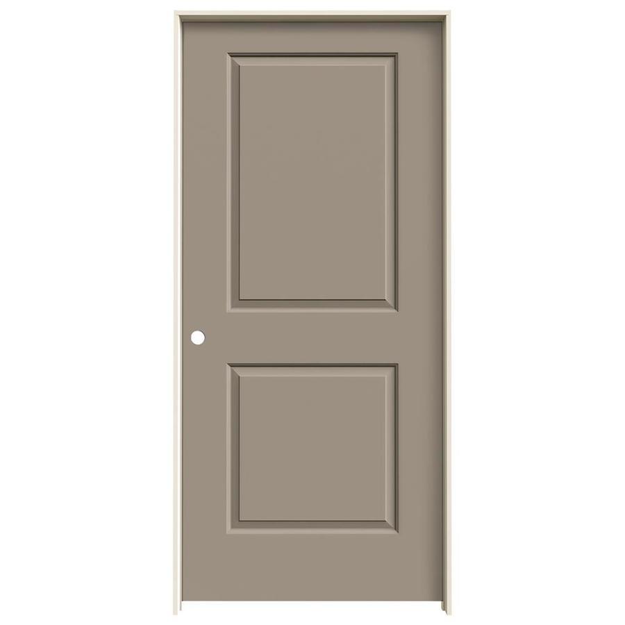 JELD-WEN Sand Piper Prehung Hollow Core 2-Panel Square Interior Door (Common: 36-in x 80-in; Actual: 37.562-in x 81.688-in)