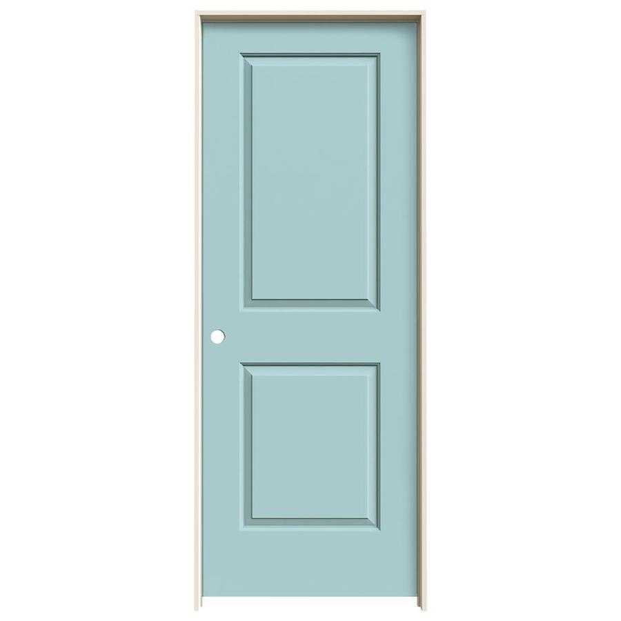 JELD-WEN Sea Mist Prehung Hollow Core 2-Panel Square Interior Door (Common: 30-in x 80-in; Actual: 31.562-in x 81.688-in)