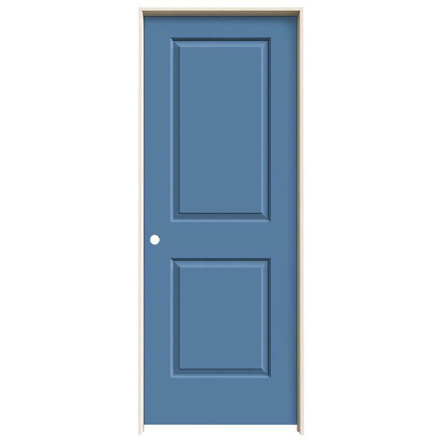 JELD-WEN Blue Heron Prehung Hollow Core 2-Panel Square Interior Door (Common: 28-in x 80-in; Actual: 29.562-in x 81.688-in)