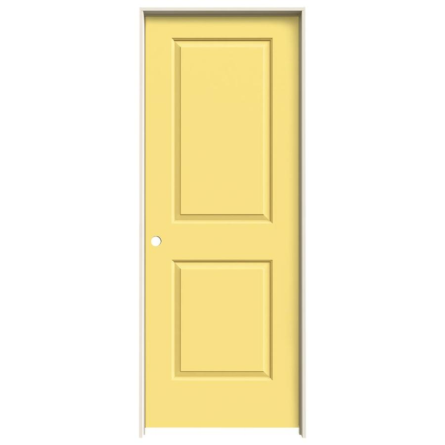 JELD-WEN Marigold Prehung Hollow Core 2-Panel Square Interior Door (Common: 24-in x 80-in; Actual: 25.562-in x 81.688-in)
