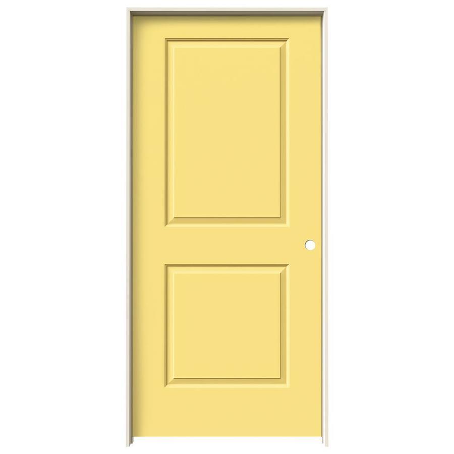 JELD-WEN Marigold Prehung Hollow Core 2-Panel Square Interior Door (Common: 36-in x 80-in; Actual: 37.562-in x 81.688-in)