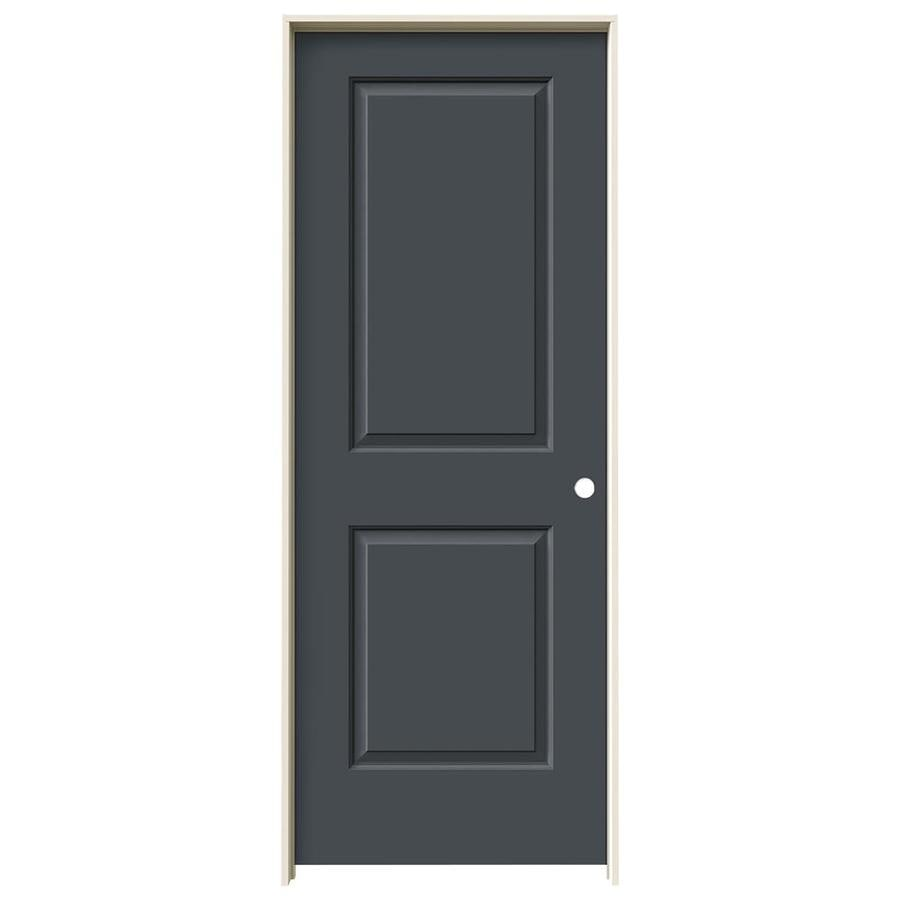 JELD-WEN Slate Prehung Hollow Core 2-Panel Square Interior Door (Common: 30-in x 80-in; Actual: 31.562-in x 81.688-in)