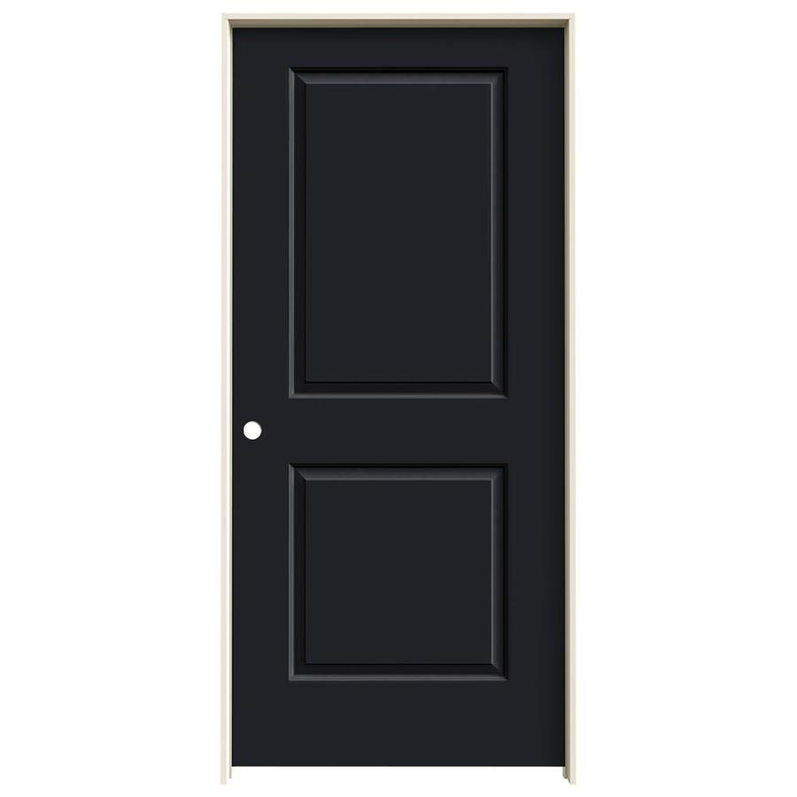 JELD-WEN Midnight Prehung Hollow Core 2-Panel Square Interior Door (Common: 36-in x 80-in; Actual: 37.562-in x 81.688-in)