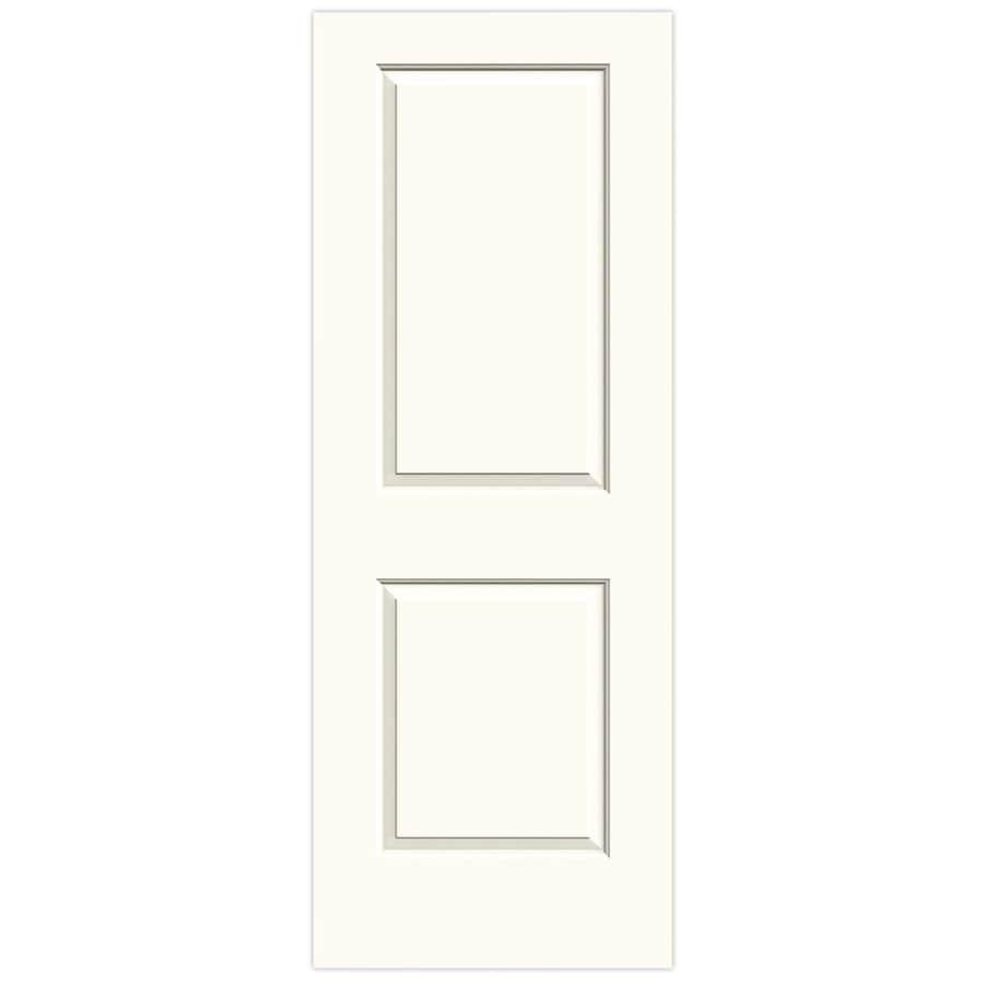JELD-WEN White Hollow Core 2-Panel Square Slab Interior Door (Common: 24-in x 80-in; Actual: 24-in x 80-in)