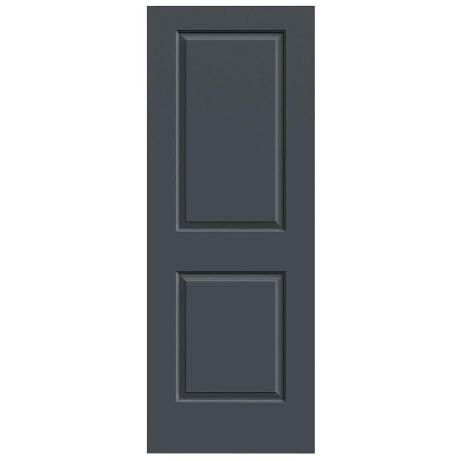 JELD-WEN Slate Hollow Core 2-Panel Square Slab Interior Door (Common: 24-in x 80-in; Actual: 24-in x 80-in)