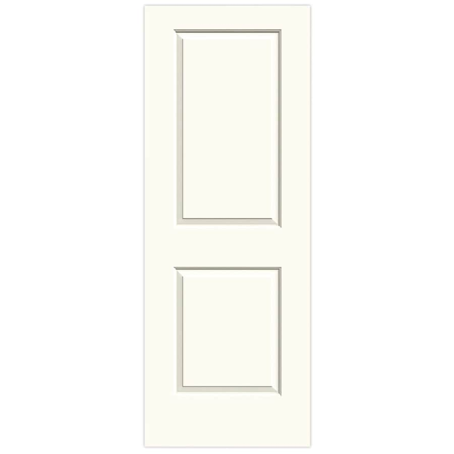 JELD-WEN White Solid Core 2-Panel Square Slab Interior Door (Common: 32-in x 80-in; Actual: 32-in x 80-in)