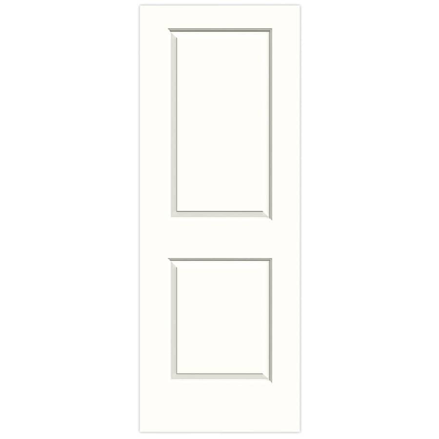 JELD-WEN Snow Storm Solid Core 2-Panel Square Slab Interior Door (Common: 32-in x 80-in; Actual: 32-in x 80-in)