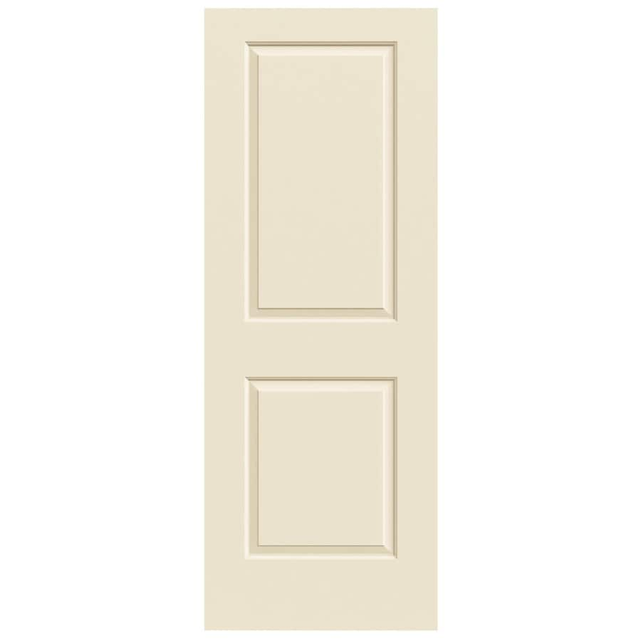JELD-WEN Cream-N-Sugar Solid Core 2-Panel Square Slab Interior Door (Common: 30-in x 80-in; Actual: 30-in x 80-in)