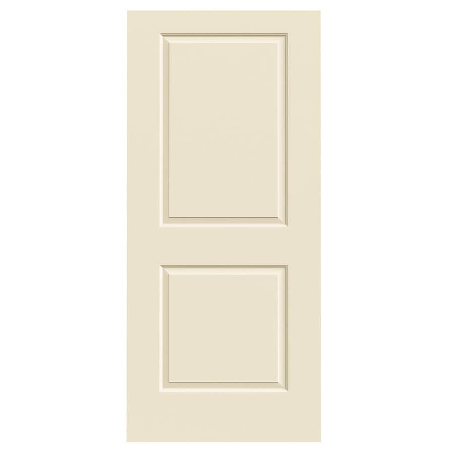 JELD-WEN Cream-N-Sugar Solid Core 2-Panel Square Slab Interior Door (Common: 36-in x 80-in; Actual: 36-in x 80-in)