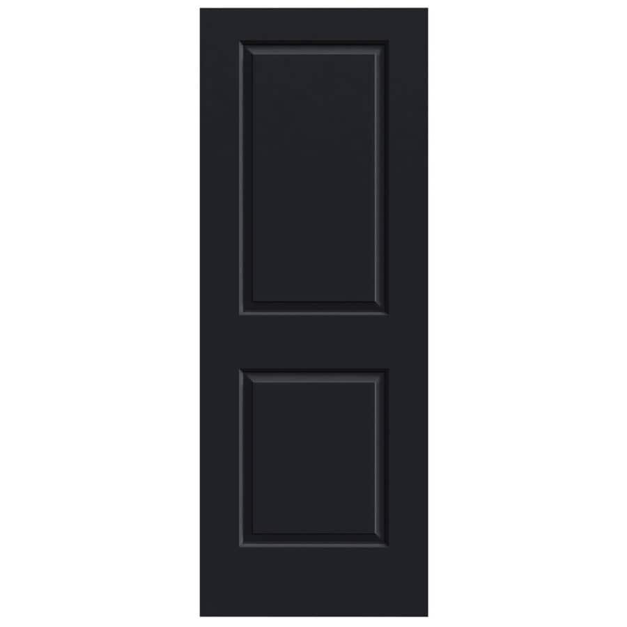 JELD-WEN Midnight Solid Core 2-Panel Square Slab Interior Door (Common: 28-in x 80-in; Actual: 28-in x 80-in)
