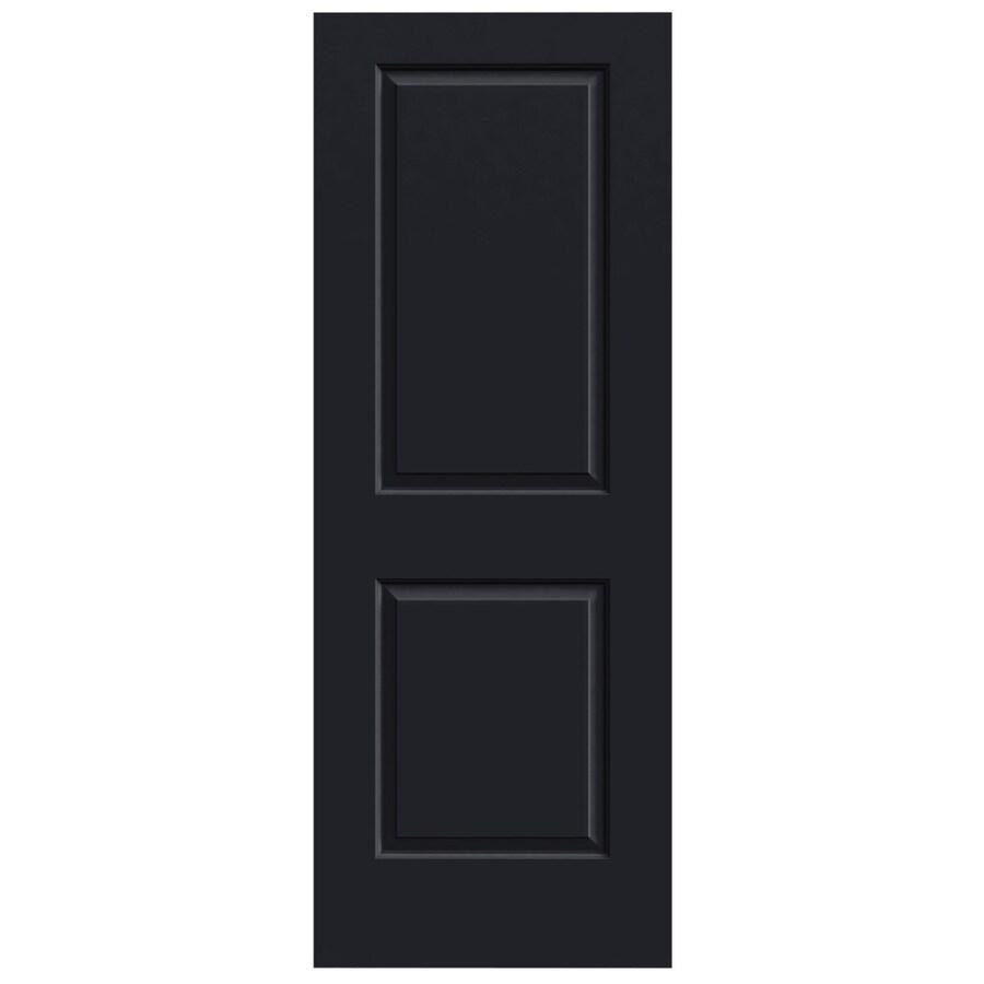 JELD-WEN Midnight Solid Core 2-Panel Square Slab Interior Door (Common: 32-in x 80-in; Actual: 32-in x 80-in)