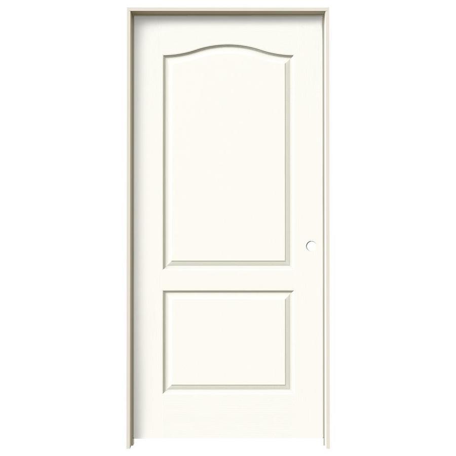 JELD-WEN White Prehung Hollow Core 2-Panel Arch Top Interior Door (Common: 36-in x 80-in; Actual: 37.562-in x 81.688-in)