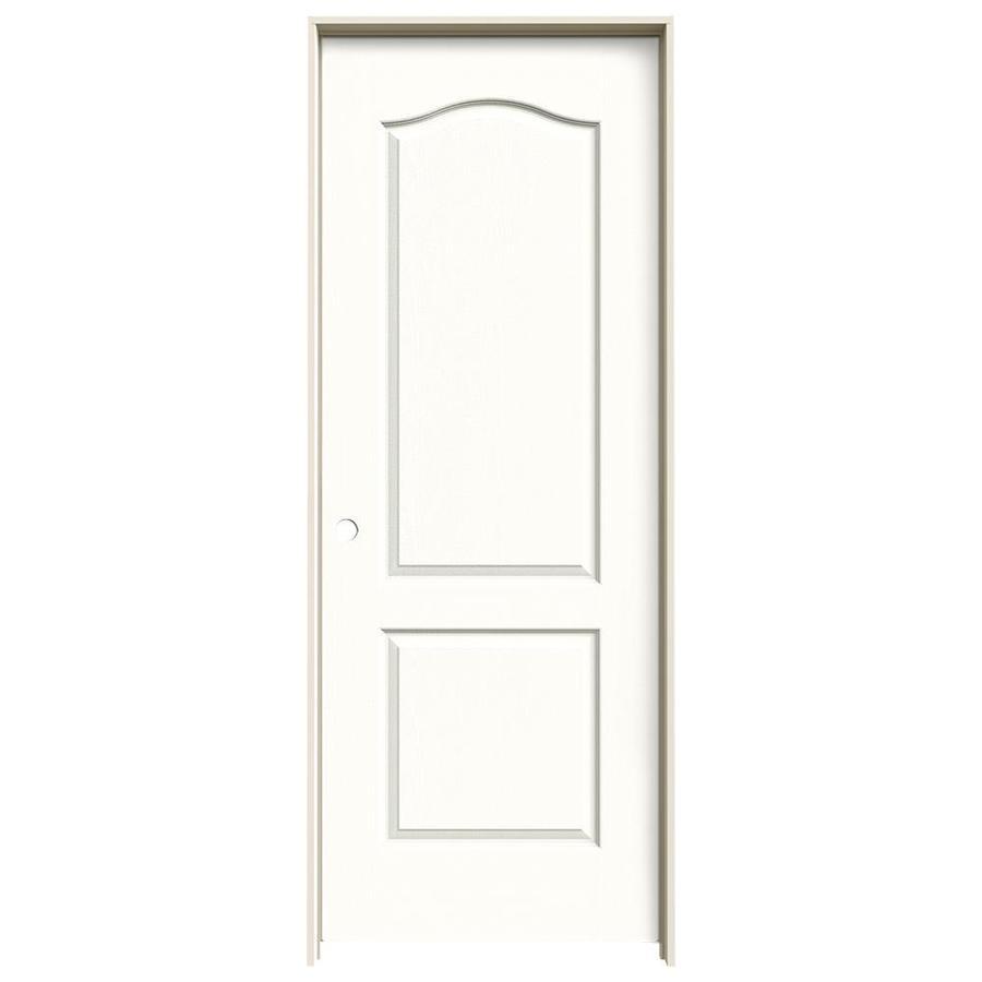JELD-WEN Snow Storm Prehung Hollow Core 2-Panel Arch Top Interior Door (Common: 24-in x 80-in; Actual: 25.562-in x 81.688-in)