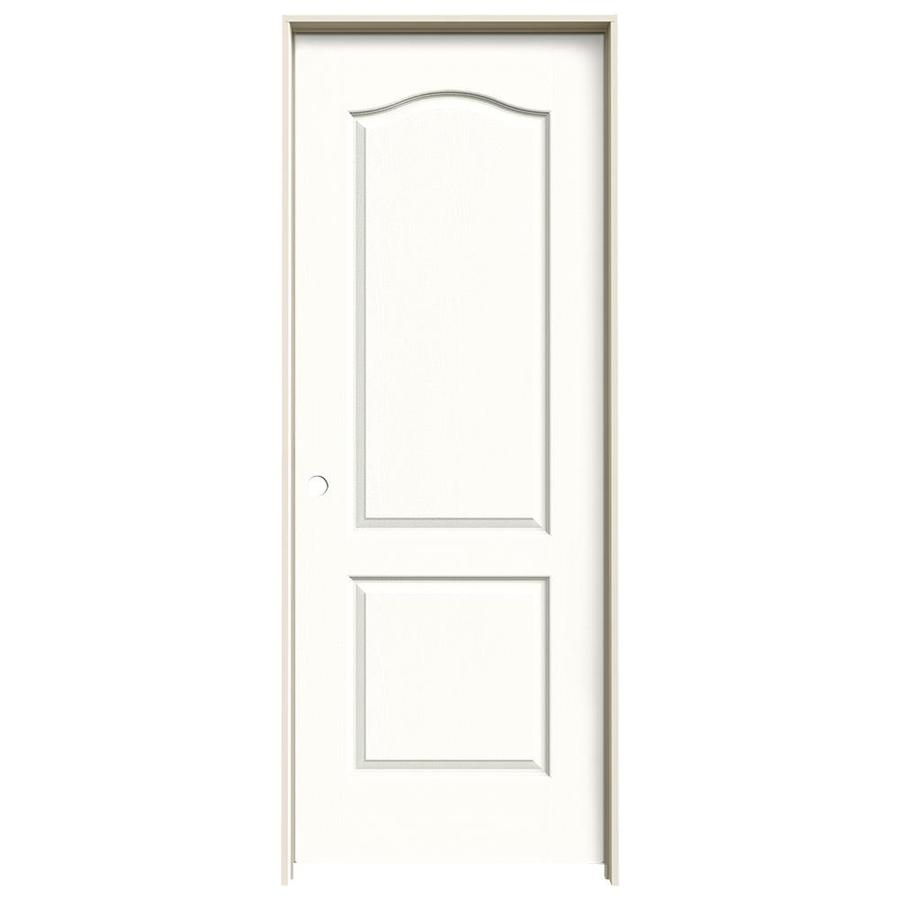 JELD-WEN Snow Storm Prehung Hollow Core 2-Panel Arch Top Interior Door (Common: 28-in x 80-in; Actual: 29.562-in x 81.688-in)