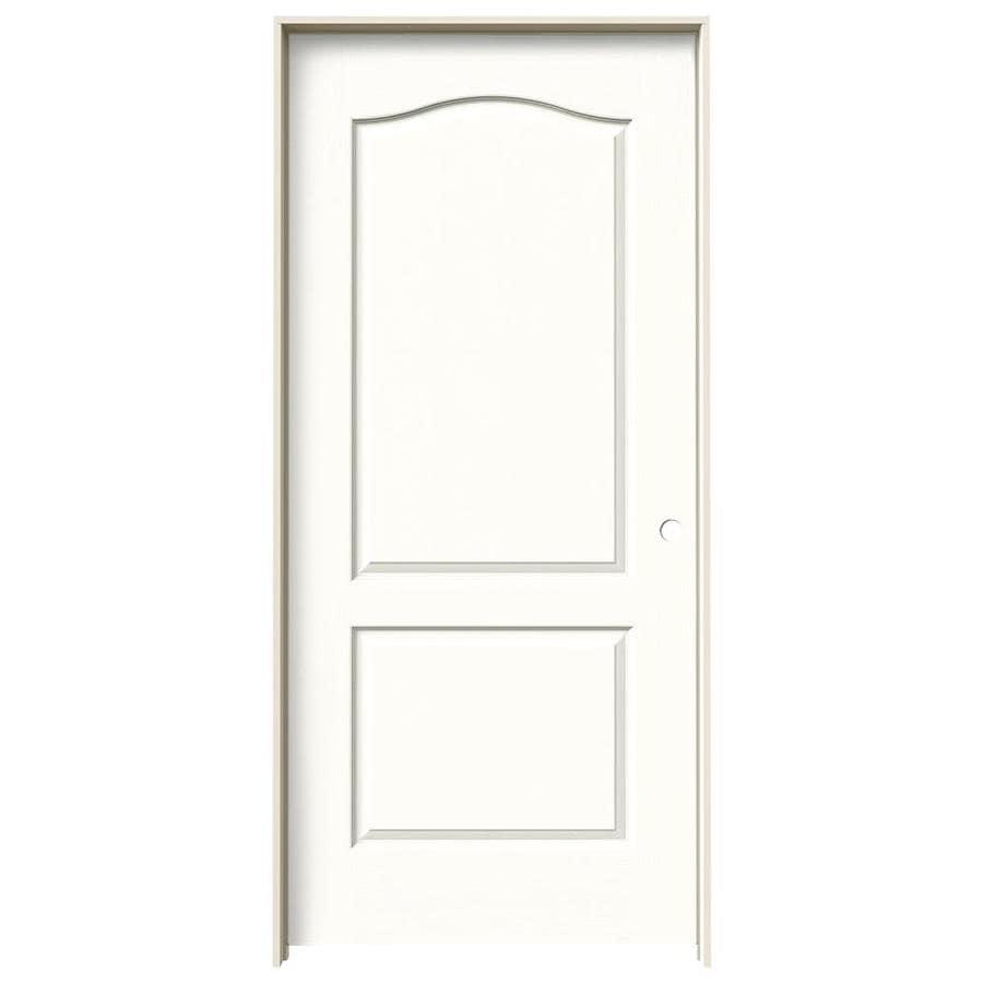 JELD-WEN Snow Storm Prehung Hollow Core 2-Panel Arch Top Interior Door (Common: 36-in x 80-in; Actual: 37.562-in x 81.688-in)