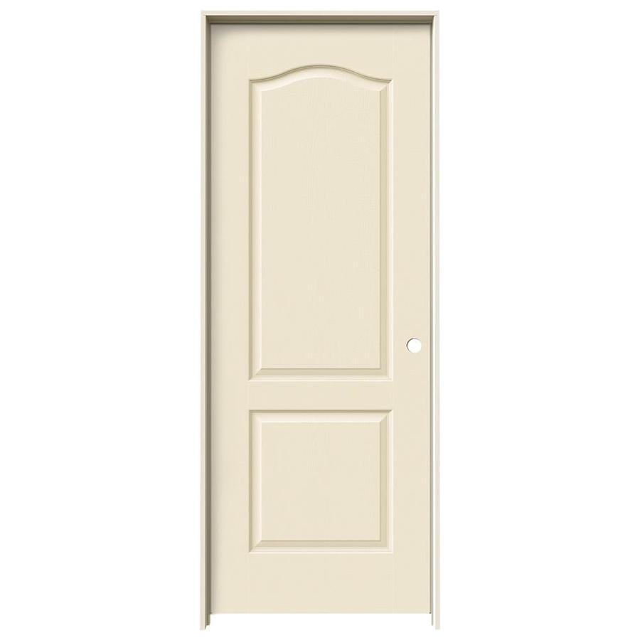 JELD-WEN Cream-N-Sugar Prehung Hollow Core 2-Panel Arch Top Interior Door (Common: 30-in x 80-in; Actual: 31.562-in x 81.688-in)