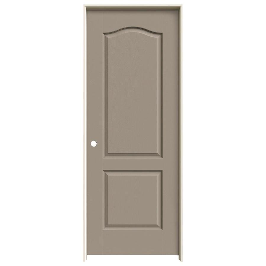JELD-WEN Sand Piper Prehung Hollow Core 2-Panel Arch Top Interior Door (Common: 28-in x 80-in; Actual: 29.562-in x 81.688-in)