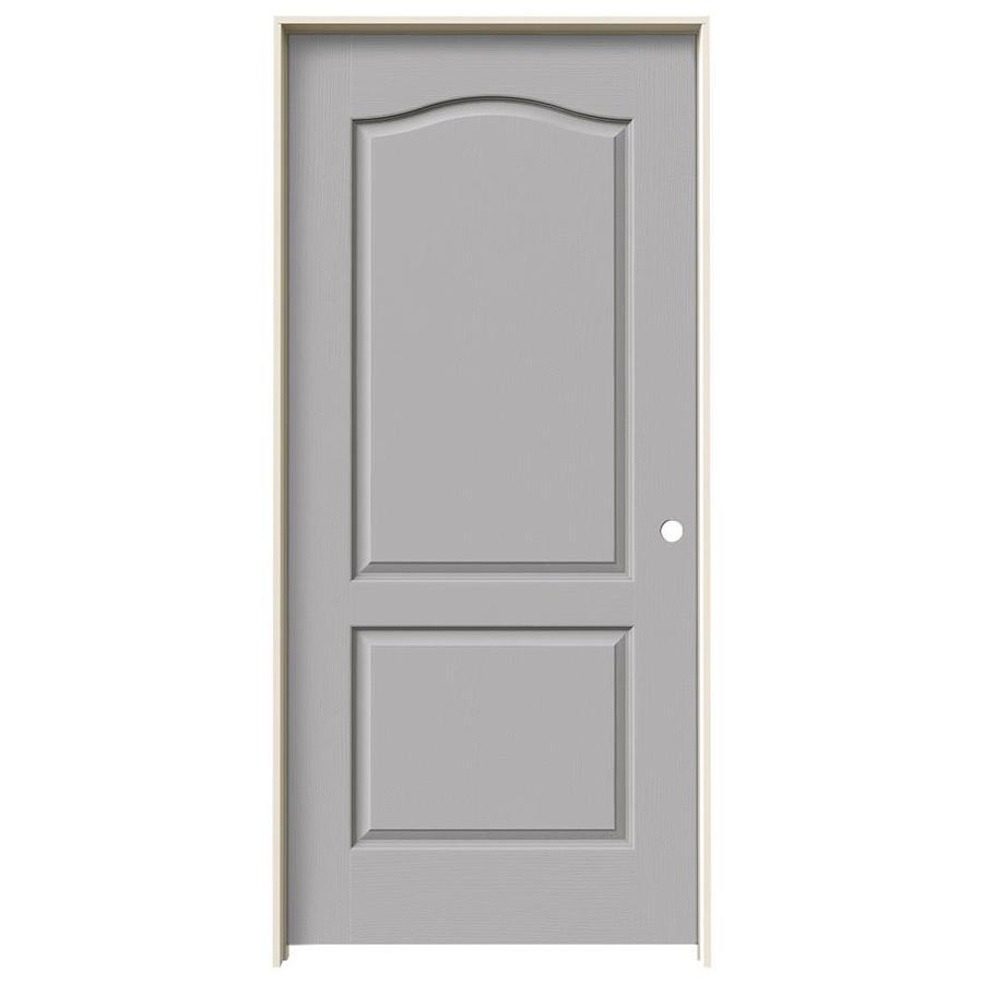 JELD-WEN Driftwood Prehung Hollow Core 2-Panel Arch Top Interior Door (Common: 36-in x 80-in; Actual: 37.562-in x 81.688-in)