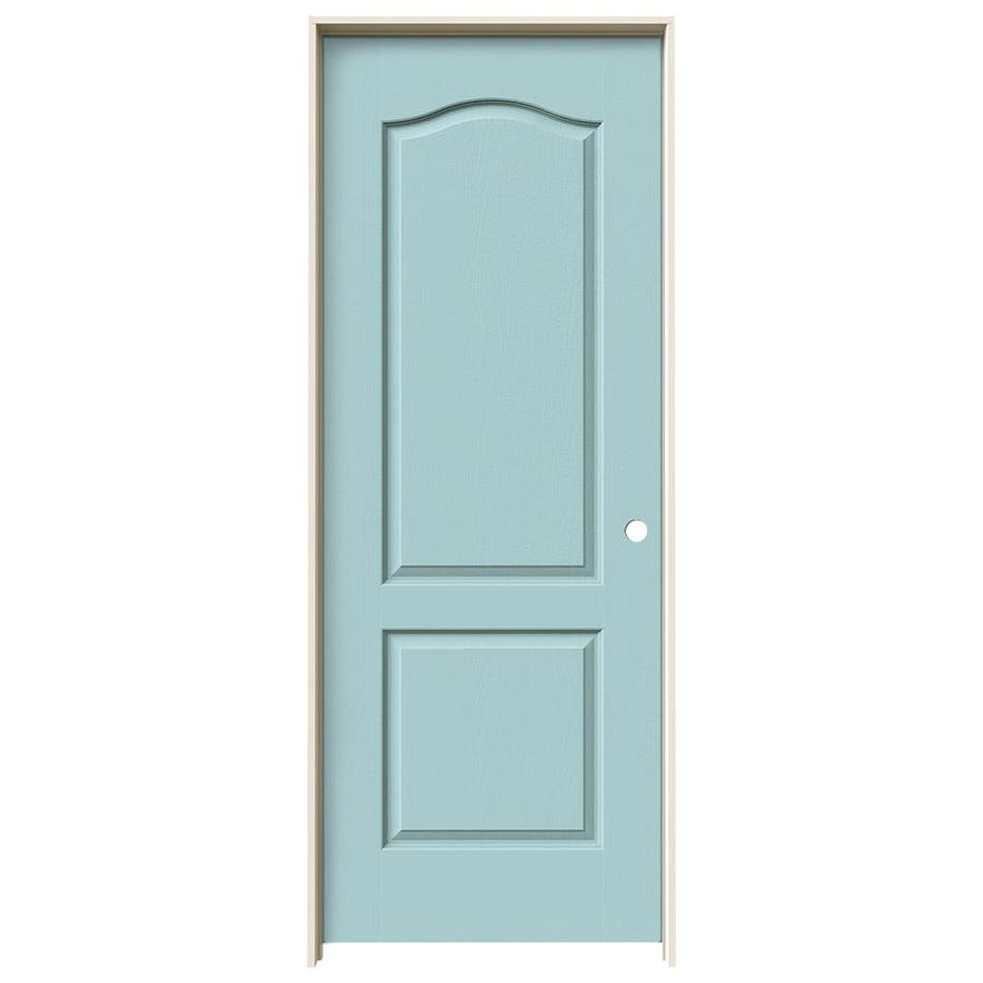 JELD-WEN Sea Mist Prehung Hollow Core 2-Panel Arch Top Interior Door (Common: 30-in x 80-in; Actual: 31.562-in x 81.688-in)