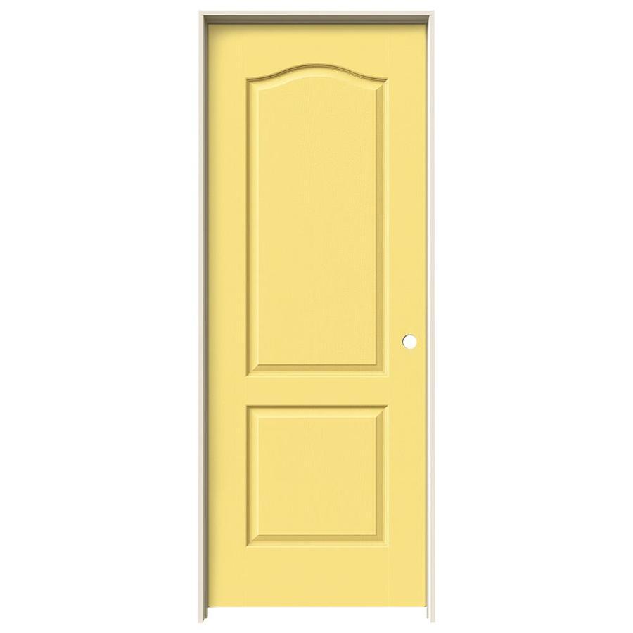 JELD-WEN Marigold Prehung Hollow Core 2-Panel Arch Top Interior Door (Common: 32-in x 80-in; Actual: 33.562-in x 81.688-in)