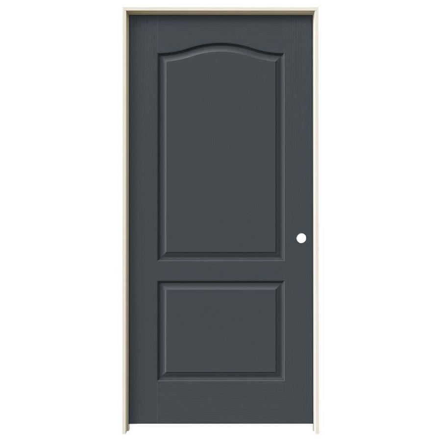 JELD-WEN Slate Prehung Hollow Core 2-Panel Arch Top Interior Door (Common: 36-in x 80-in; Actual: 37.562-in x 81.688-in)