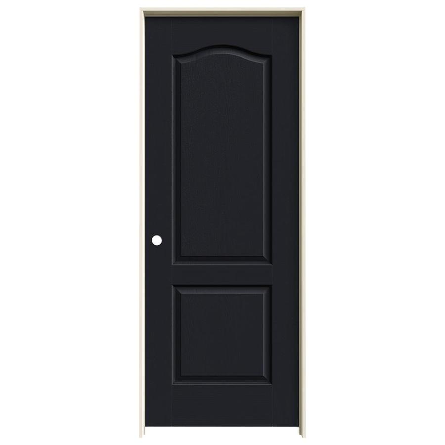 JELD-WEN Midnight Prehung Hollow Core 2-Panel Arch Top Interior Door (Common: 32-in x 80-in; Actual: 33.562-in x 81.688-in)