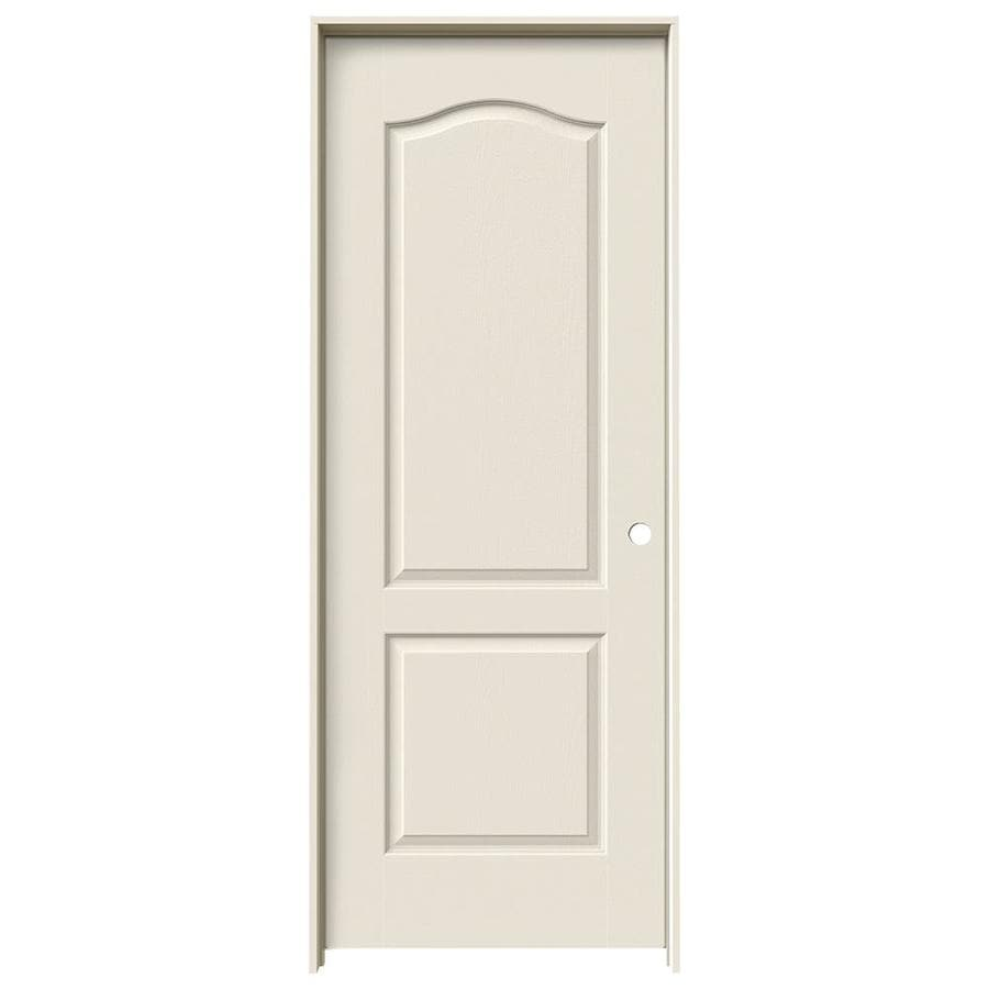 JELD-WEN Prehung Hollow Core 2-Panel Arch Top Interior Door (Common: 24-in x 80-in; Actual: 25.562-in x 81.688-in)